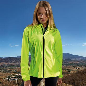 tr070 Long Sleeve Full Front Zip Jacket Tridri Ultralight Layer Softshell